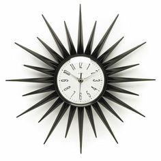 On the high street: Acctim Stella starburst clock - Retro to Go Silver Wall Clock, Silver Walls, Wall Clocks, Sunburst Clock, Retro Interior Design, Bohemian Interior, Retro Clock, Grandfather Clock, Lowes Home Improvements