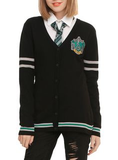 Harry Potter Slytherin Girls Cardigan | Hot Topic