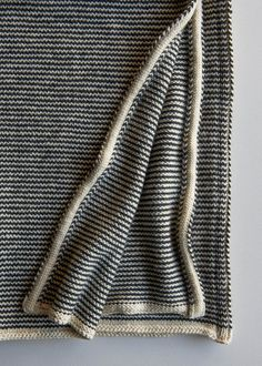 Learn-to-Love-Steeks Blanket | Purl Soho.  I actually do love steeking -- it's kind of dangerous -- but this simple blanket is beautiful.
