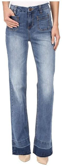 Jag Jeans Wallace Flare Jeans in Republic Denim