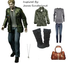 A Nice outfit inspired by James Sunderland, for the true Silent Hill fans! And for women cosplayers! Silent Hill 2, Sunderland, Video Game, Military Jacket, Cool Outfits, Fans, Geek, Cosplay, Costumes