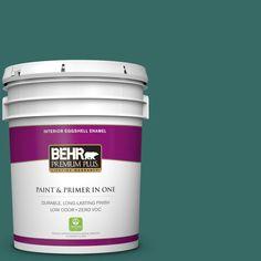 BEHR Premium Plus 5 gal. #M450-7 Beta Fish Zero VOC Eggshell Enamel Interior Paint
