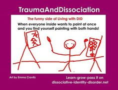 by Emma Cravitz - flickr.com/photos/traumaanddissociation This is about dissociative identity disorder