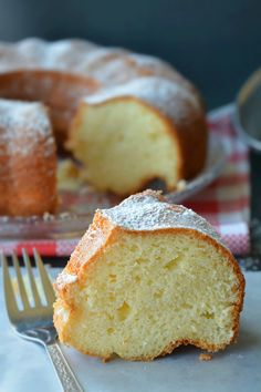 Super Moist Whipping Cream Pound Cake- A Buttery Pound cake With A Beyond Divine Creamy Consistency Center !