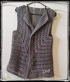 Captivating Crochet a Bodycon Dress Top Ideas. Dazzling Crochet a Bodycon Dress Top Ideas. Gilet Crochet, Crochet Vest Pattern, Crochet Coat, Crochet Jacket, Knit Vest, Crochet Cardigan, Love Crochet, Irish Crochet, Crochet Shawl