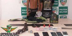 Jovem e menor de idade são presos tentando roubar ônibus do transporte coletivo