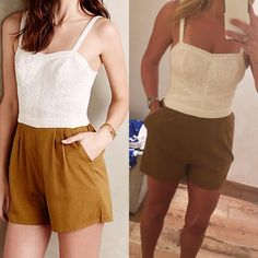Anthropologie Addie laced romper Eyelet romper with adjustable shoulder straps.  Side pockets and front pleating.  Smocked elastic back with zip closure.   Fits true to size.  No trades. Reasonable offers welcome Note: 20% off bundles of 2+ items in my closet! Anthropologie Other