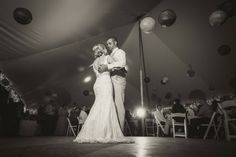 First Dance at the Wedding Tent in Northern Michigan. Crystal Lake Weddings.