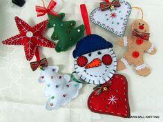 Felt Christmas ornaments Christmas decorations. by Mirastyle, $42.00