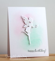 Tracey Mcneely - great way to use a die cut for a CAS card