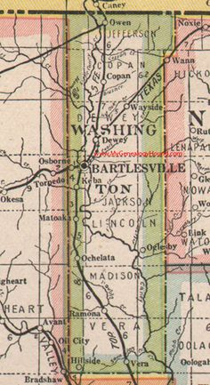 26 Best Vintage Oklahoma and Indian Nation Maps images