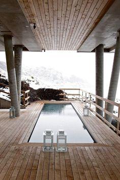 Mountain hot tub