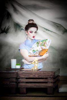 #geisha #makeup  mod: Land Roses fot: Arkadiusz K. makeup: Marta Sławińska