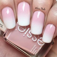 5 Minute Nail Art Ideas - Gradient French Pink - Easy And Classy Gel, Acrylic, And DIY Nail Art Ideas For Summer, For Winter, For Fall, And For Spring. Ideas For Teens, For Brides, For Weddings, For A Night Out With The Ladies, For Light Skin And Dark Skin Hands, And For Beginners And Experts - https://thegoddess.com/nail-art-ideas