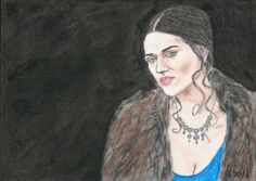 Katie McGrath as Morgana by Vanessafari - #KatieMcGrath in the #BBCMerlin series, by #Vanessafari. More portraits at vanessafari.com