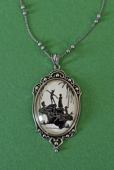 SALE 20% OFF // Coupon code: SALE20 // Peter Pan and the Mermaids Necklace, pendant on chain via Etsy