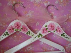 Clothes+Hangers+Adult+Size+Hand+Painted+Shabby+by+pinkrose1611,+$16.00