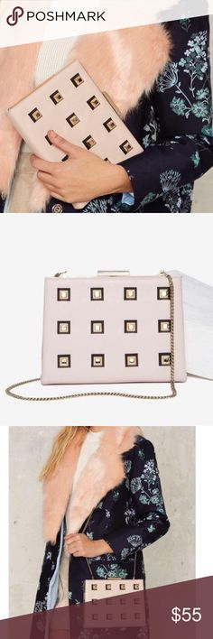 Nasty Gal Pink Clutch Purse New without Box: A brand-new, unused,  and unworn item. The original tags may not be attached. **nasty gal item refer to site for sizing guide**  NO Trades   NO Holds (whoever first come to buy unless note otherwise) Nasty Gal Bags