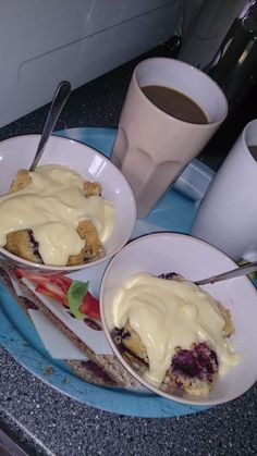 "Swedish ""fika"". Coffee with Berrypie and vanilla cream!"