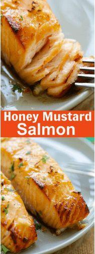 nice Honey Mustard Baked Salmon