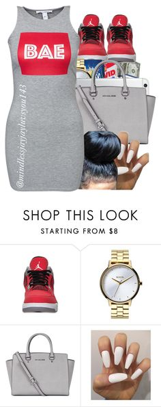 """Untitled #376"" by mindlessjayjayluvsyou143 ❤ liked on Polyvore featuring Retrò, Nixon, Michael Kors and NLY Trend"