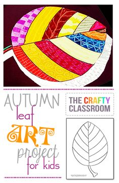 Simple Textures & Patterns Fall Leaf Art Project for Kids.  This project is super simple and children will love to scratch away the designs,