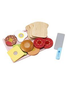 Sandwich bois Deliset Panino MULTICOLORE - vertbaudet enfant