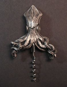 Kraken Corkscrew by Dellamorteco on Etsy, $25.00 (love the Kraken!)