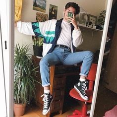 Ideas for fashion retro mens how to get hyunas retro fashion style Mode Outfits, Retro Outfits, Trendy Outfits, Vintage Outfits, Fashion Outfits, Fashion Fashion, Fashion Ideas, Fashion For Man, 80s Style Outfits