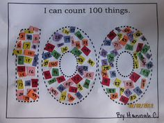 Sew Crafty Mommy: day of school idea 100th Day Of School Crafts, 100 Day Of School Project, 100 Days Of School, School Projects, School Ideas, School Stuff, Calendar Time, School Calendar, First Grade Activities
