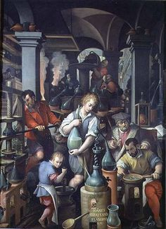 Page of An Alchemist's Laboratory by STRADANUS, Johannes in the Web Gallery of Art, a searchable image collection and database of European painting, sculpture and architecture Wicca, Magick, Witchcraft, Medieval, Tarot, Web Gallery Of Art, European Paintings, 16th Century, Occult