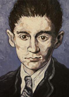 Portrait of Kafka, oil on canvas Authors, Writers, Portrait Art, Portraits, Oil On Canvas, Canvas Art, Francis Bacon, Llamas, Old Wood