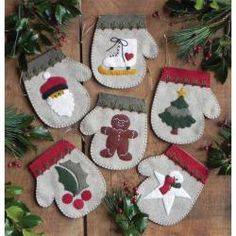 Warm Hands Needlework Felt Holiday Ornament Kit - Set Of Six - Overstock™ Shopping - Big Discounts on Rachels of Greenfield Needlework Kits