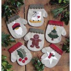Warm Hands Needlework Felt Holiday Ornament Kit - Set Of Six