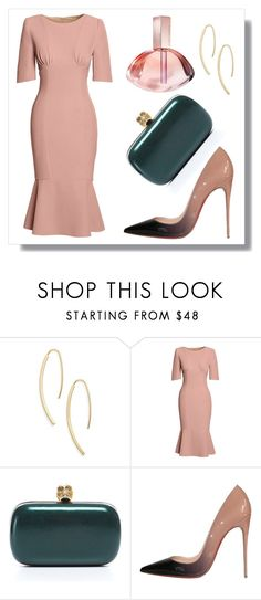 """""""Can´t Stop The Feeling"""" by romaosorno ❤ liked on Polyvore featuring Argento Vivo, Canvas by Lands' End, Alexander McQueen, Christian Louboutin and Calvin Klein"""