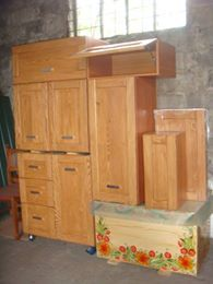 Wooden Kitchen, Armoire, Furniture, Home Decor, Timber Kitchen, Clothes Stand, Decoration Home, Closet, Room Decor