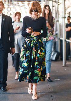 Manolo Blahnik: Anna Wintour wearing custom-made slingback sandals