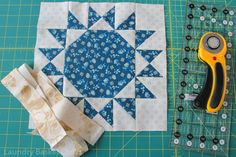 Patches of Blue Quilt Along – Shimmering Snow Block 6