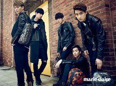 EXO - Marie Claire Magazine October Issue '14 - Chen, Chanyeol, Baekhyun, Xiumin, DO