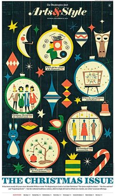 50s style graphic on Arts & Style magazine, December 2010