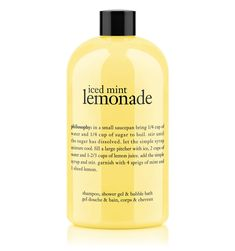 iced mint lemonade | shower gel | philosophy