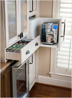 Customize any drawer for the coffee maker and dedicate a drawer for coffee pods.