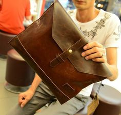 Business Solid Color and Envelope Design Cluth For Men, COFFEE in Men's Bags | DressLily.com