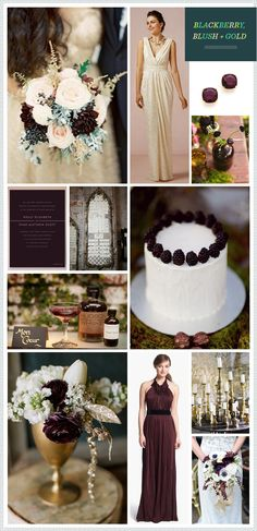 REVEL: Blackberry, Blush + Gold Wedding Inspiration