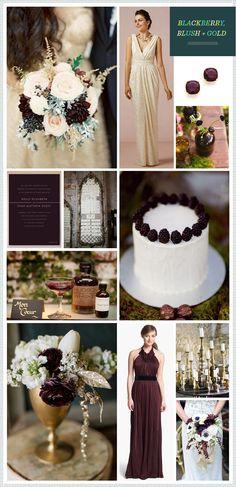 REVEL: Blackberry, Blush + Gold Wedding Inspiration