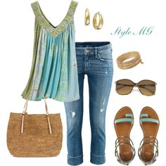 summer looks, blue, dress up, summer outfits, sandal, aqua, shoe, spring outfits, shirt