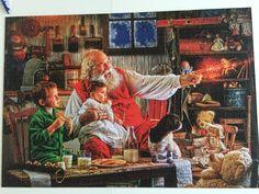Julepuslespil 2000 brikker. Fødselsdagsgave fra William, Nanna og Rasmus. 👍❤️