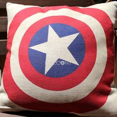 Captain America Pillow... my son would love this