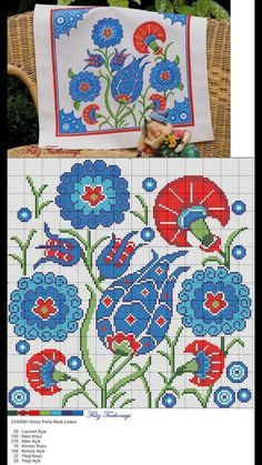 Paper Towel Roll Crafts, Paper Towel Rolls, Cushion Embroidery, Folk Embroidery, Cross Stitch Borders, Cross Stitch Patterns, Quilts, Blanket, Design