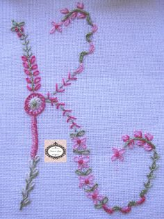 Floral Alphabet - worked in the same colours but using different stitches & all are lovely.